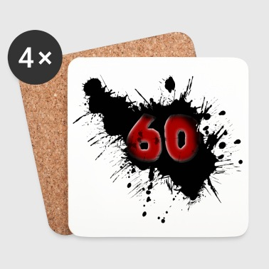 60th birthday - Coasters (set of 4)