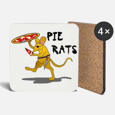 For Rat Lovers Pirate Pizza Pie Rat - Coasters