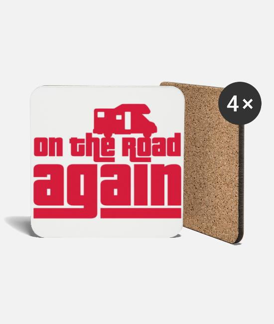 Camper Mugs & Drinkware - On the road again! - Coasters white