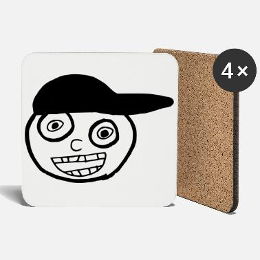 Kid In A Cap Full Face - Coasters