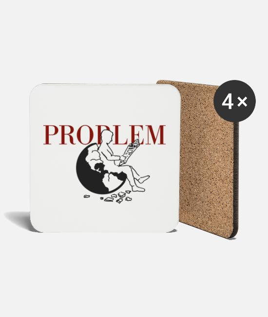 Earth Mugs & Drinkware - problem - Coasters white