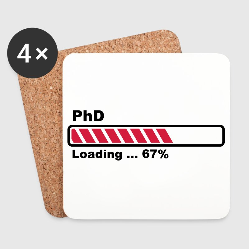 PhD loading bar - Coasters (set of 4)
