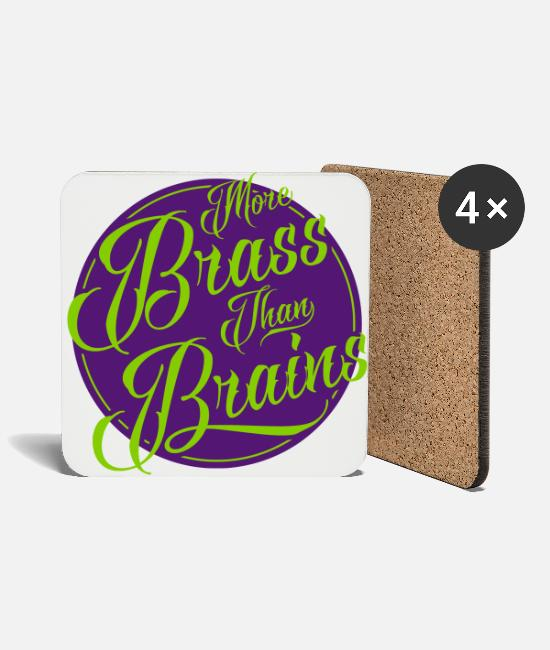 Calypso Mugs & Drinkware - More Brass Than Brains, Yorkshire - Coasters white