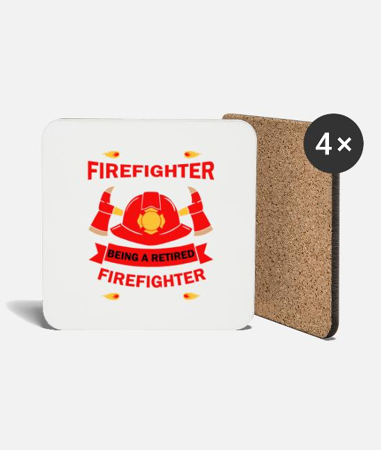 Fire Fighter Mugs & Drinkware - Firefighter Firefighter Firefighter - Coasters white
