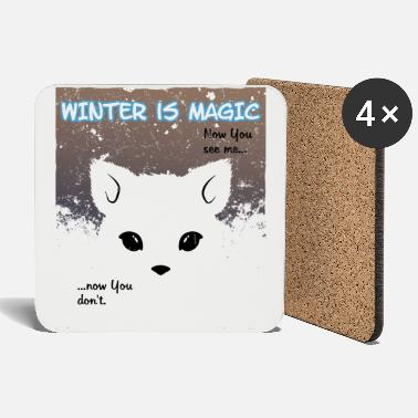 Eisfuchs Hiver Magic Little Snow Fox - Dessous de verre