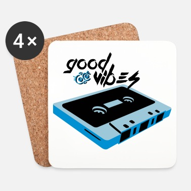 Cassette Good Vibes - Dessous de verre (lot de 4)