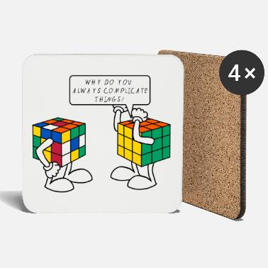 Speedsolving Rubik's Cube Humour Complicate Things - Coasters