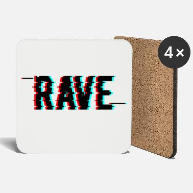 Rave Wear Rave Techno House EDM Glitch Effect Rave Wear - Untersetzer