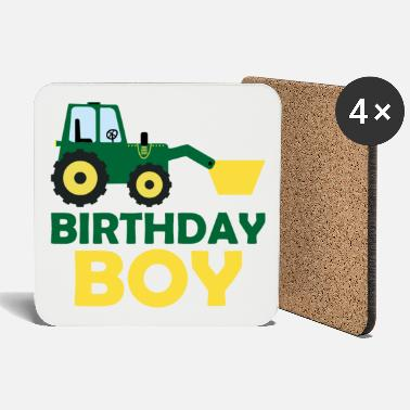 Brother Of Birthday Boy Tractor Birthday Boy Birthday for boys boys - Coasters