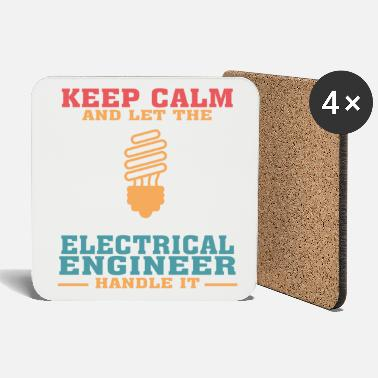 Calm Funny Electrical Engineer Tshirt, Keep Calm - Coasters