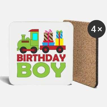 Brother Of Birthday Boy Railway steam train birthday for boy brother - Coasters