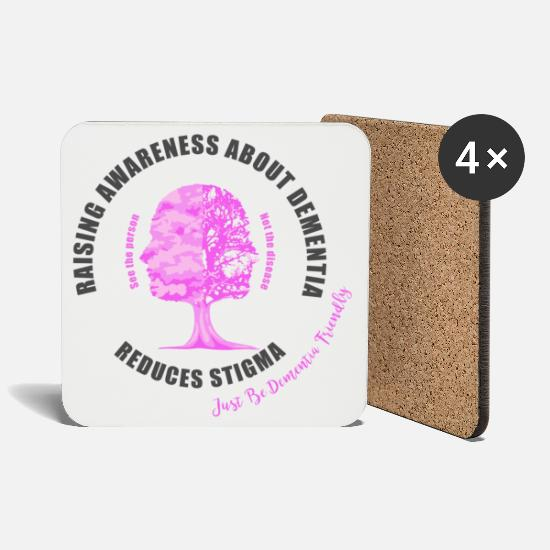 Awareness Mugs & Drinkware - Reducing the Stigma of Dementia - Coasters white