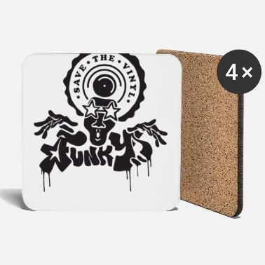 Afro Funky Funk DJ Save the Vinyl Breakdance - Coasters