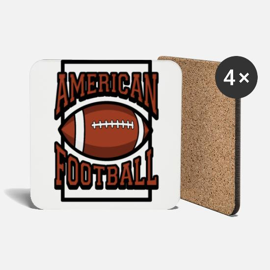 American Football Mugs & Drinkware - American football usa sport funny gift - Coasters white