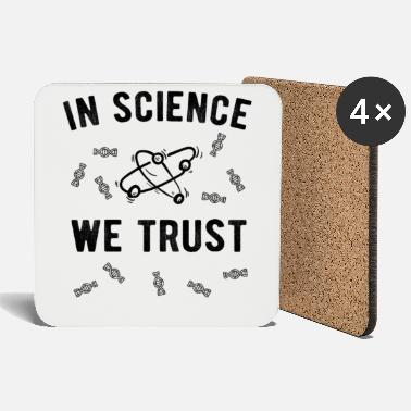 Atheists ATHEIST / anti religion: In Science we trust - Coasters