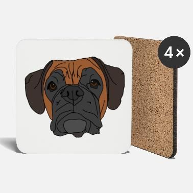 Boxer Boxer Dog Face Design - Untersetzer