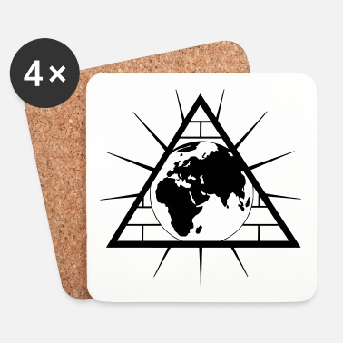 Planet pyramide-planéte - Dessous de verre (lot de 4)