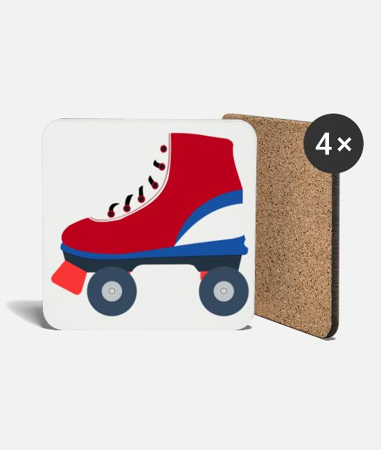 Sailing Boat Mugs & Drinkware - Roller skate roller skates vector colorful - Coasters white