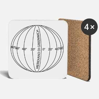 Parallel meridians and parallels mp36 - Coasters