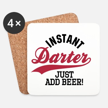 Pil Instant darter just add beer - Underlägg (4-pack)