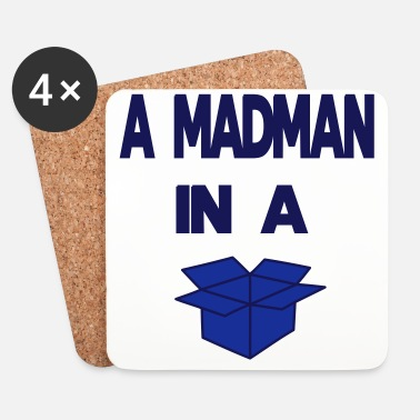 Boxare A Madman in a a blue box  - Underlägg (4-pack)