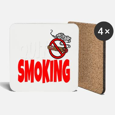 Tobacco No smoking smoker smoke cigarette tobacco - Coasters
