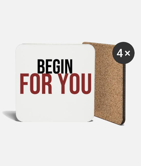 Couples Mugs & Drinkware - begin for you for you - Coasters white