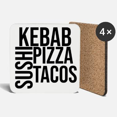 Couples Kebab sushi pizza tacos fast food - Coasters
