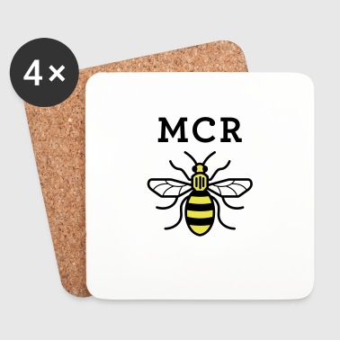 MCR MANCHESTER BEE VECTOR - Coasters (set of 4)