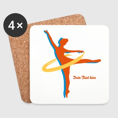 Ballet Dancer two Ballet dancer - Coasters (set of 4)