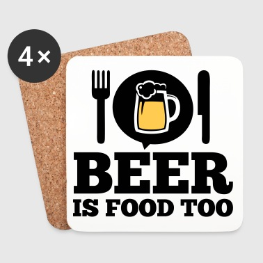 Funny love Beer is food too drinking alcohol party - Coasters (set of 4)