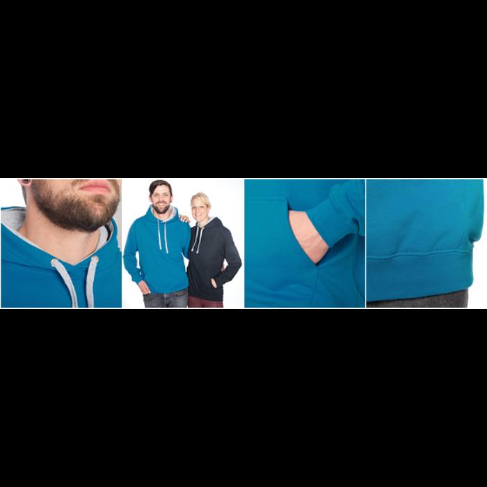 Kontrast-hættetrøje