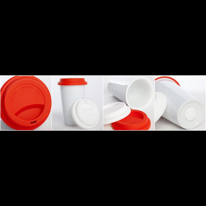 Termokrus i keramik med silikonelåg