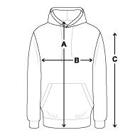 Guide des tailles - Sweat à Capuche unisexe