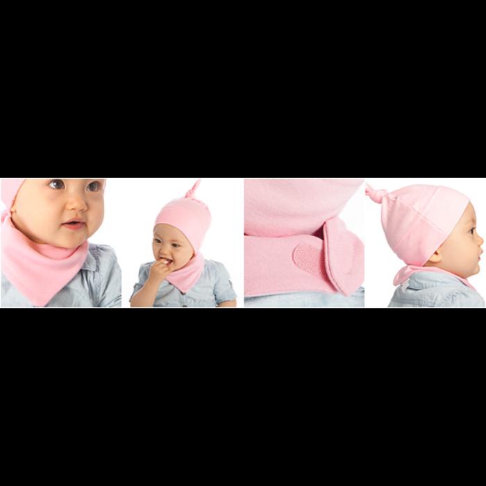 Babyhue og bandana (sæt med 2 dele)
