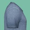 t-shirt homme bleu chiné triskell chêne - T-shirt vintage Homme