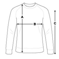 Größentabelle Männer Bio-Sweatshirt