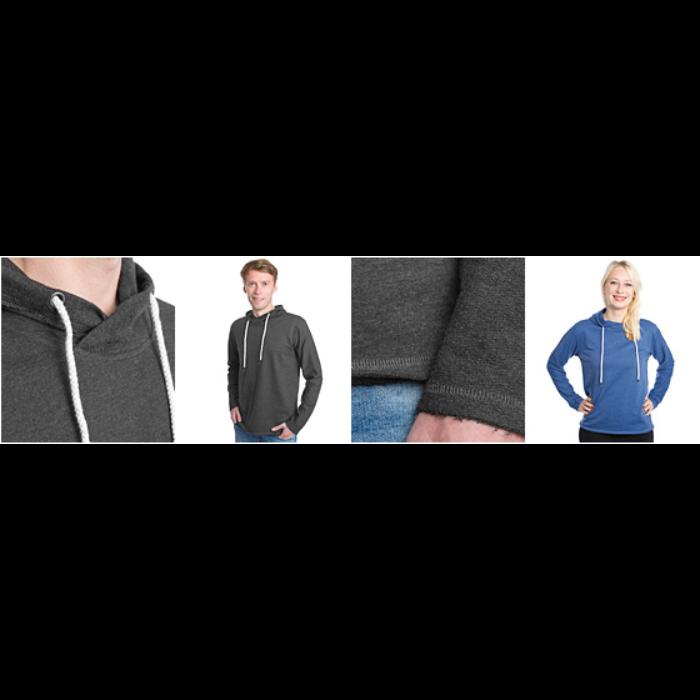 Let sweatshirt med hætte, unisex
