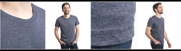 Polycotton-T-shirt herr