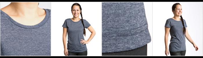 Polycotton T-skjorte for kvinner