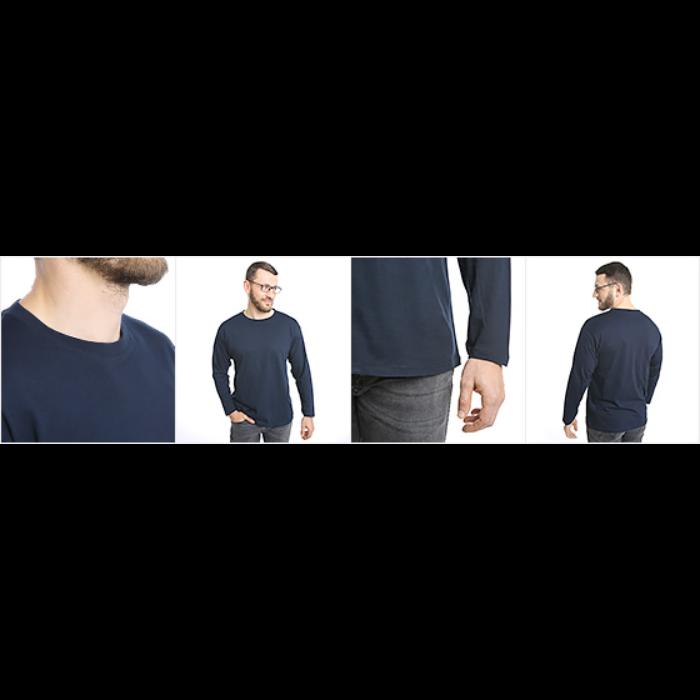 Langermet T-skjorte for menn