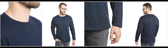 Långärmad T-shirt herr