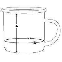 Größentabelle Emaille-Tasse