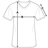 Klassisches Männer-T-Shirt mit V-Ausschnitt