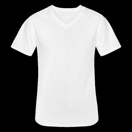 Klassisk T-skjorte med V-hals for menn