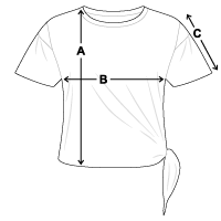 Größentabelle Frauen Knotenshirt