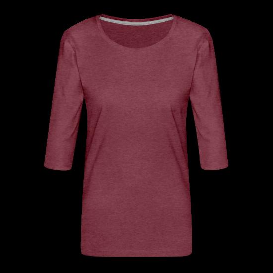 Premium-T-shirt med 3/4-ärm dam