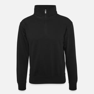 Unisex sweater with zip collar