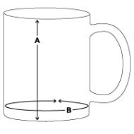 schema des mesures Mug blanc