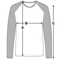 Men's Long Sleeve Baseball T-Shirt | Fruit of the Loom